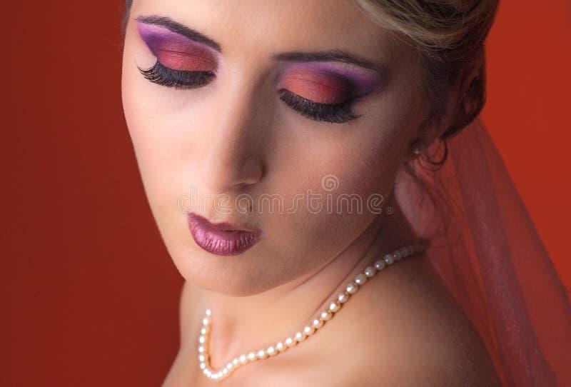 Het portret van de bruid stock foto