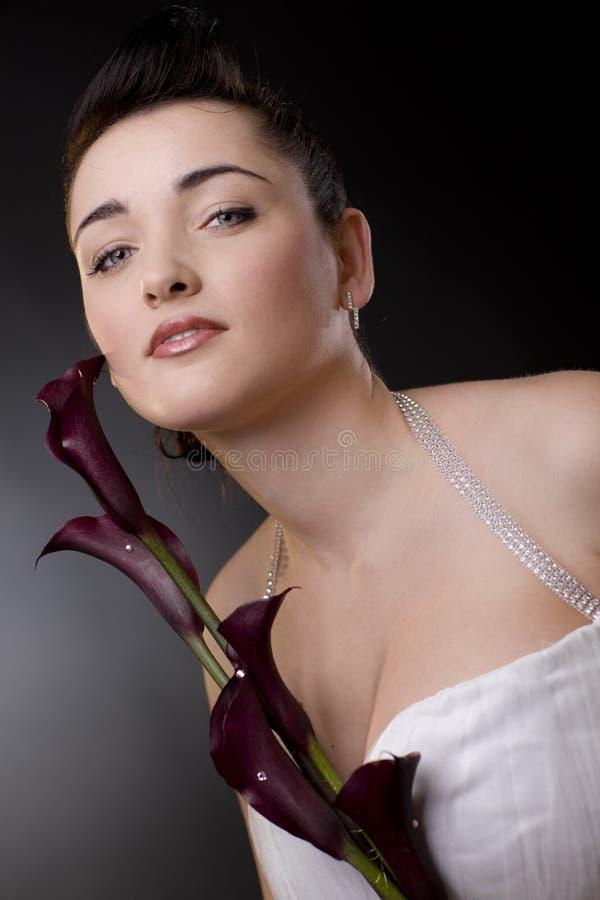 Het portret van de bruid stock foto's