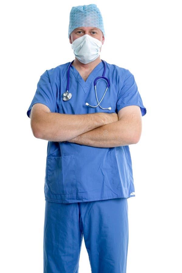 Het portret van de chirurg stock afbeeldingen