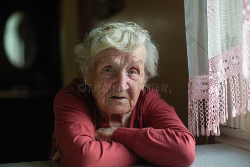 Het portret van de close-up van bejaarde royalty-vrije stock afbeelding