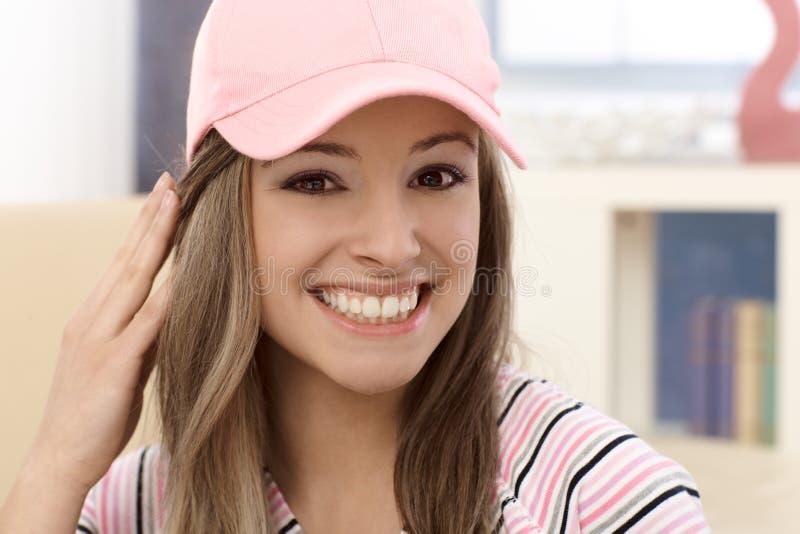 Het portret van de close-up van aantrekkelijk meisje royalty-vrije stock fotografie