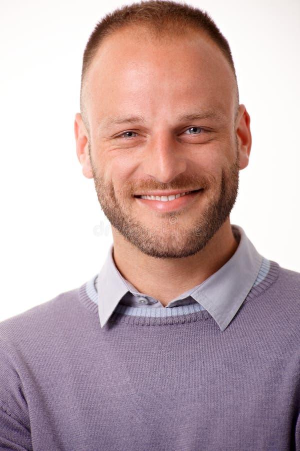 Het portret van de close-up van de gelukkige mens stock afbeeldingen