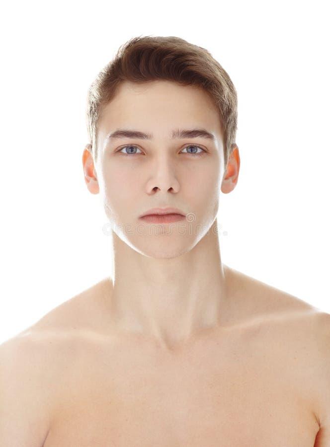 Het portret van de close-up van de jonge mens stock foto's