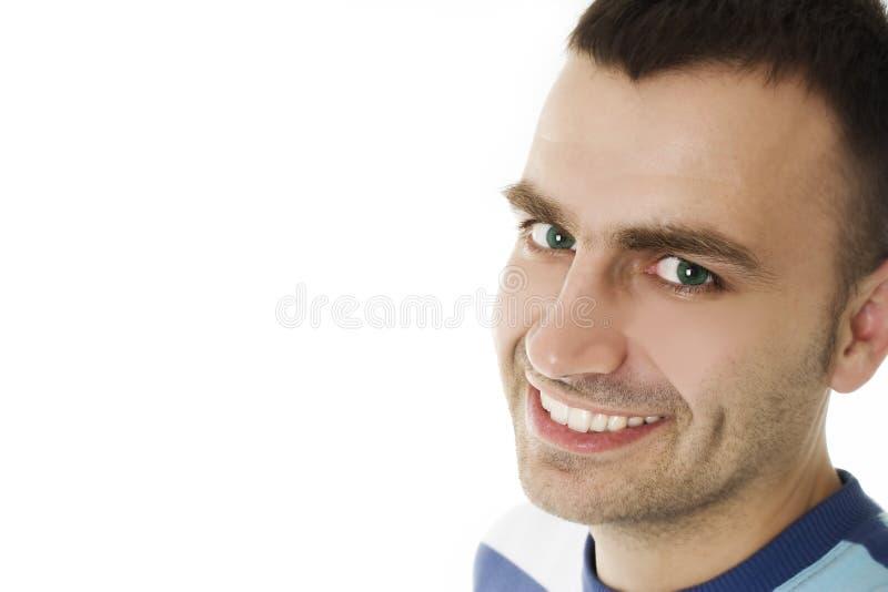 Het portret van de close-up van een charmante knappe mens royalty-vrije stock afbeelding