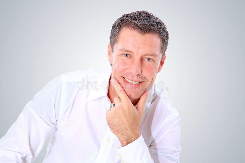 Het portret van de close-up van een hogere mens stock foto's