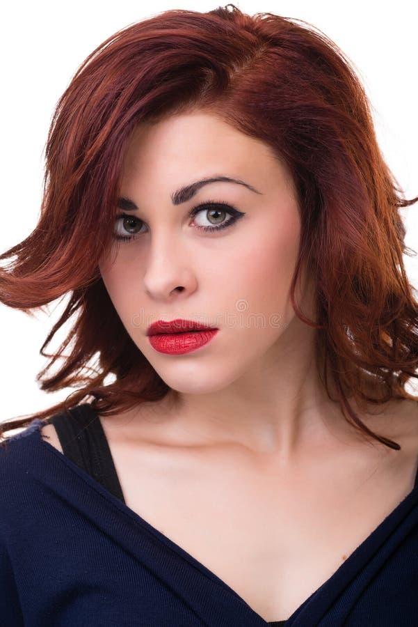 Het portret van de close-up van jonge vrouw stock fotografie