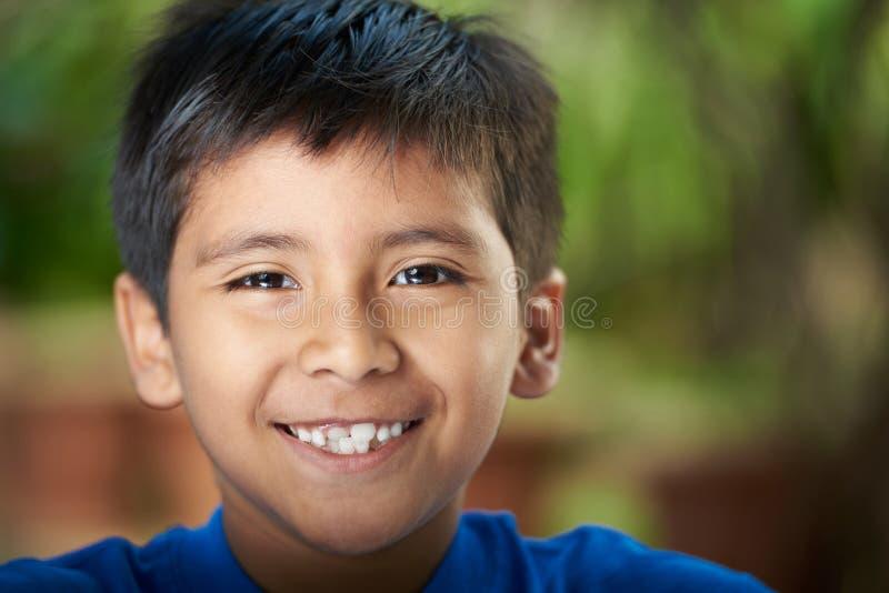 Het Portret van de close-up van Jongen stock afbeelding