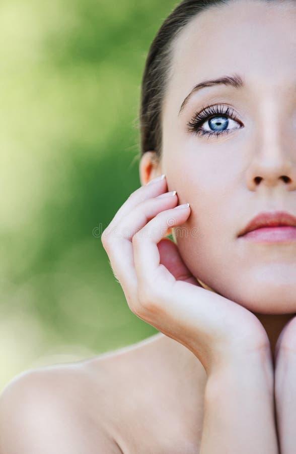 Het portret van de close-up van mooi stock afbeelding