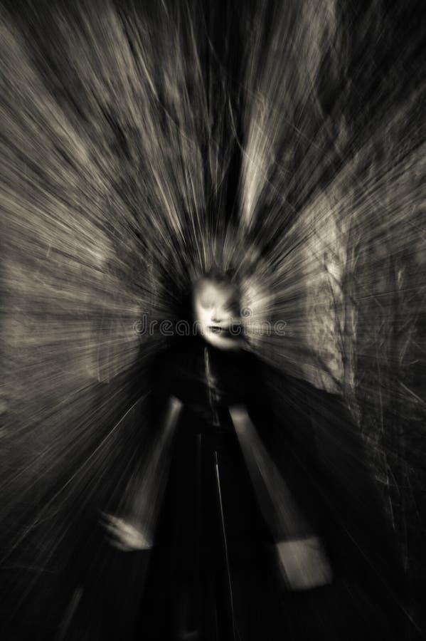 Het portret van de close-up van spookmeisje royalty-vrije stock afbeelding