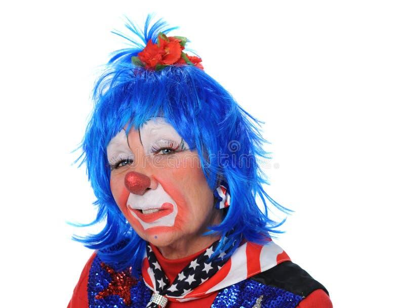 Het Portret van de clown stock foto