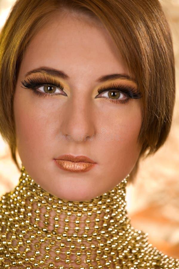 Het portret van de dekking van mooi model stock fotografie