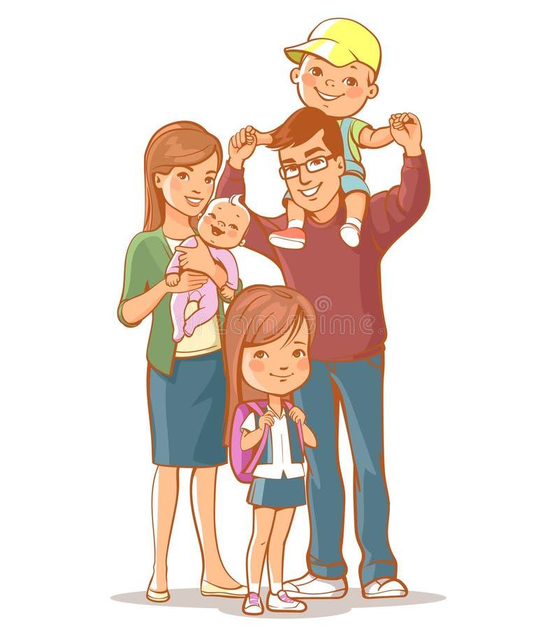 Het portret van de familie stock illustratie