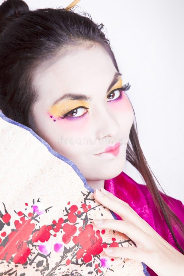 Het portret van de geisha royalty-vrije stock afbeelding