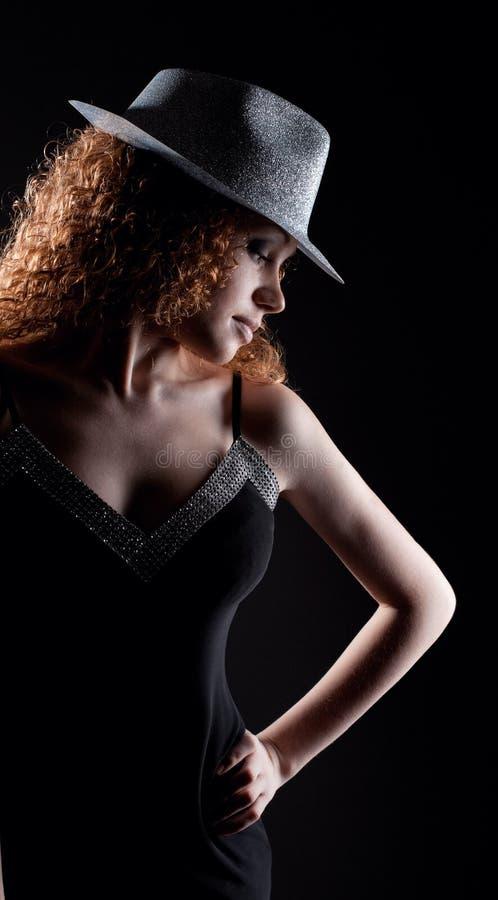 Het portret van de glamour van mooie sexy vrouw royalty-vrije stock foto