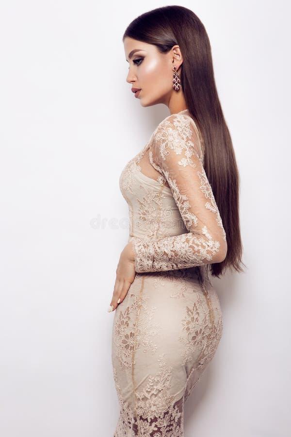 Het portret van de glamourdame stock foto's