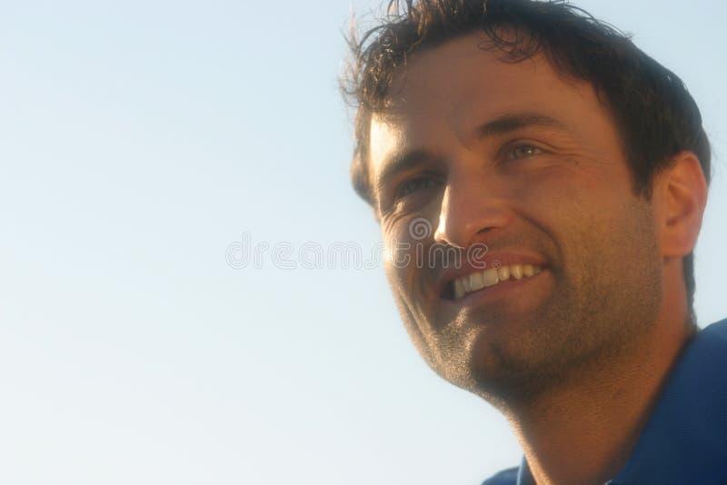 Het portret van de glimlach van een mens stock afbeeldingen