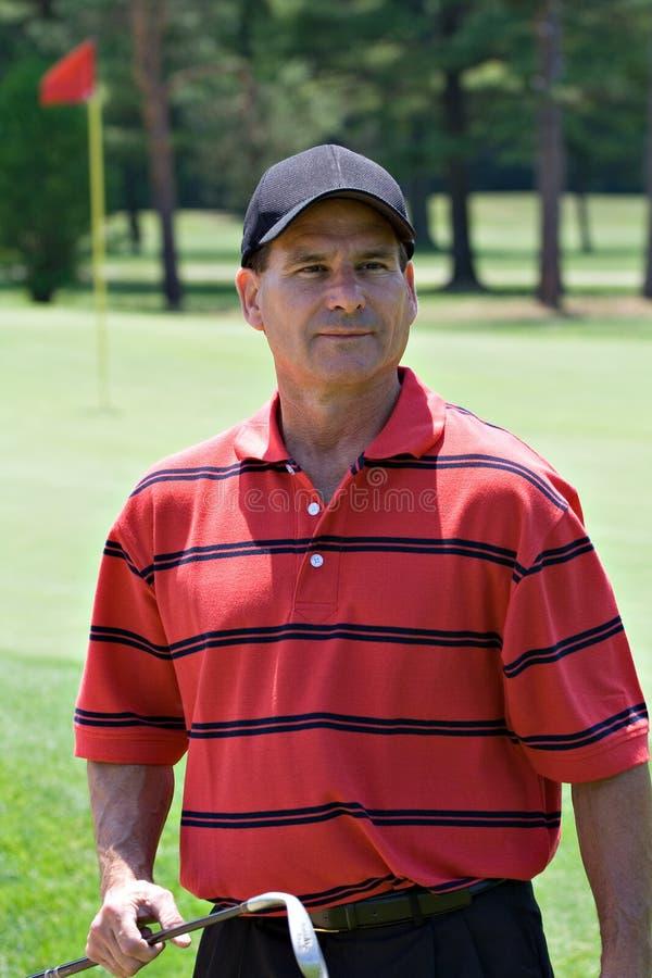 Het Portret van de golfspeler stock afbeelding