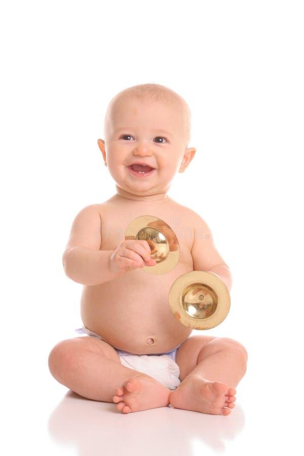 Het portret van de het klankbekkenspeler van de baby royalty-vrije stock foto