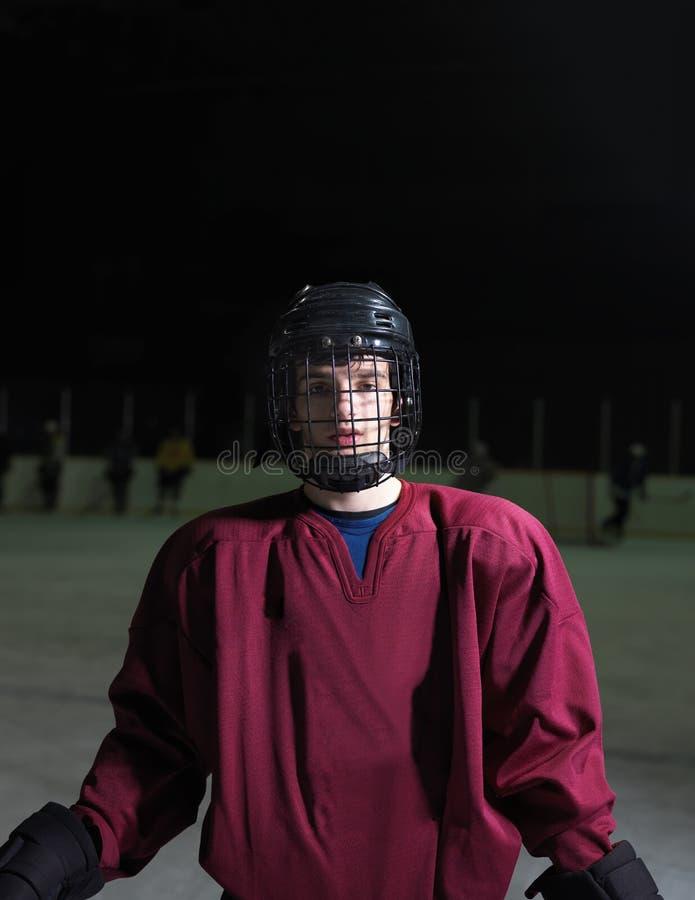 Het portret van de hockeyspeler royalty-vrije stock afbeelding