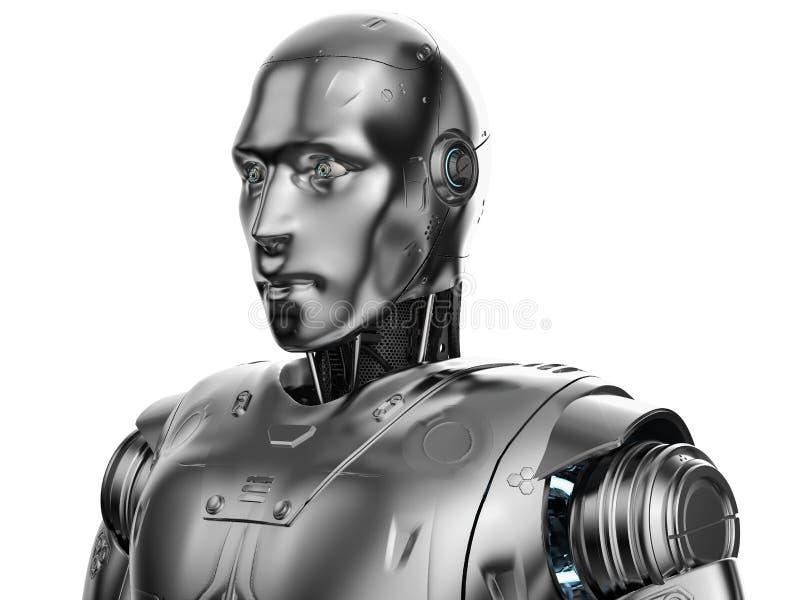 Het portret van de Humanoidrobot vector illustratie