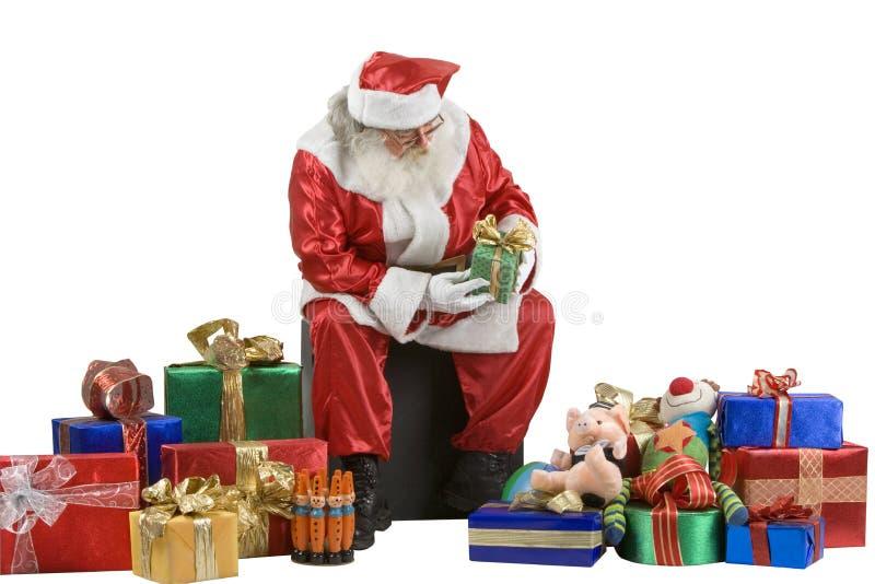 Het Portret van de Kerstman royalty-vrije stock fotografie