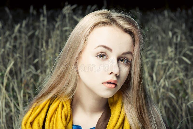 Het portret van de manier van jonge mooie vrouw stock fotografie