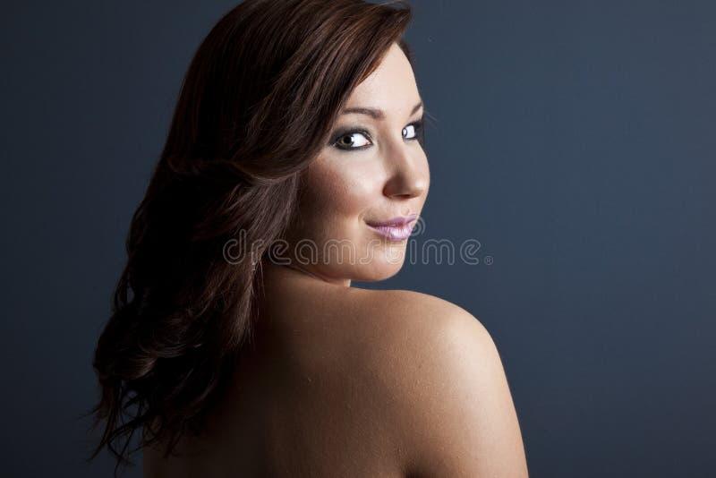 Het Portret van de manierschoonheid van Mooi Meisje Professionele Make-up royalty-vrije stock afbeelding