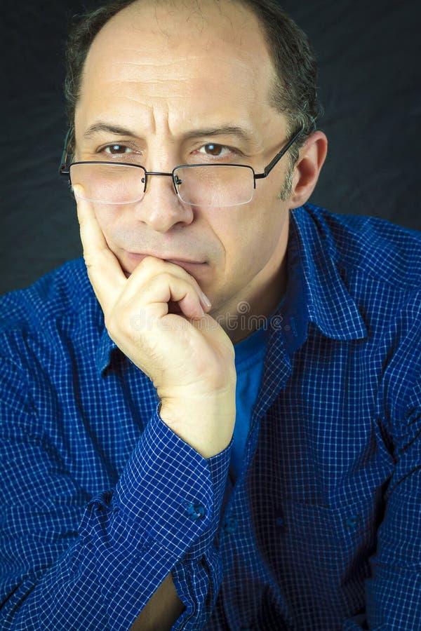 Het portret van de mens stock foto