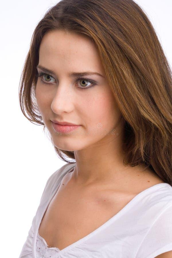Het portret van de mooie vrouw royalty-vrije stock foto