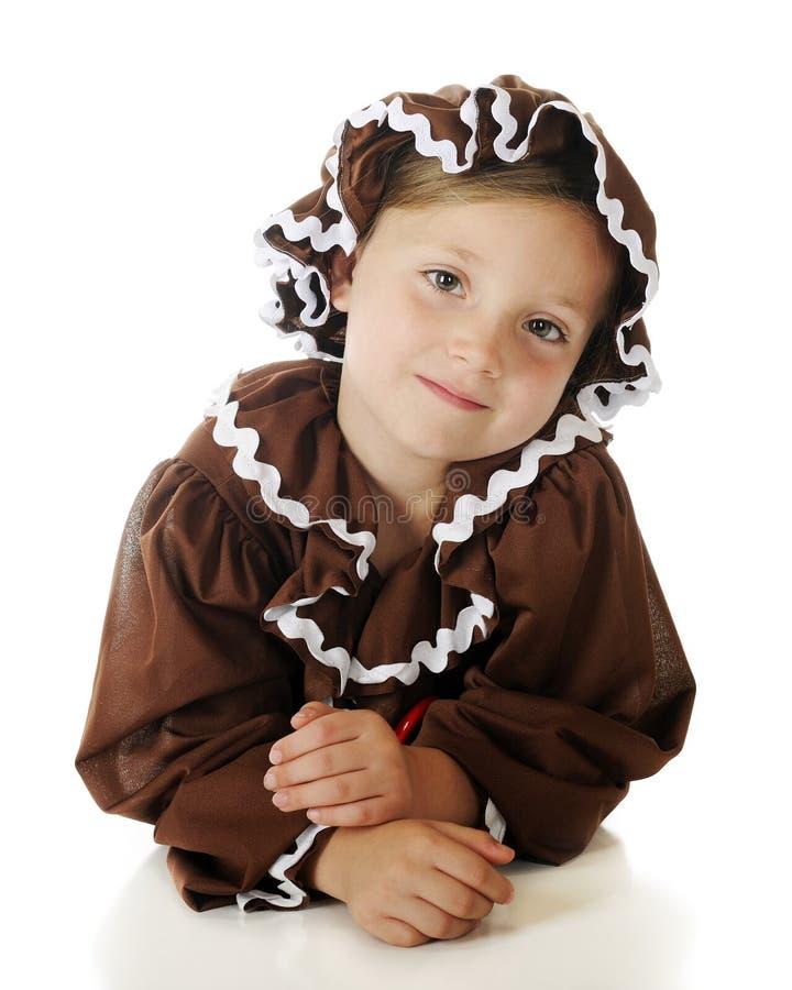 Het Portret van de peperkoek stock afbeelding