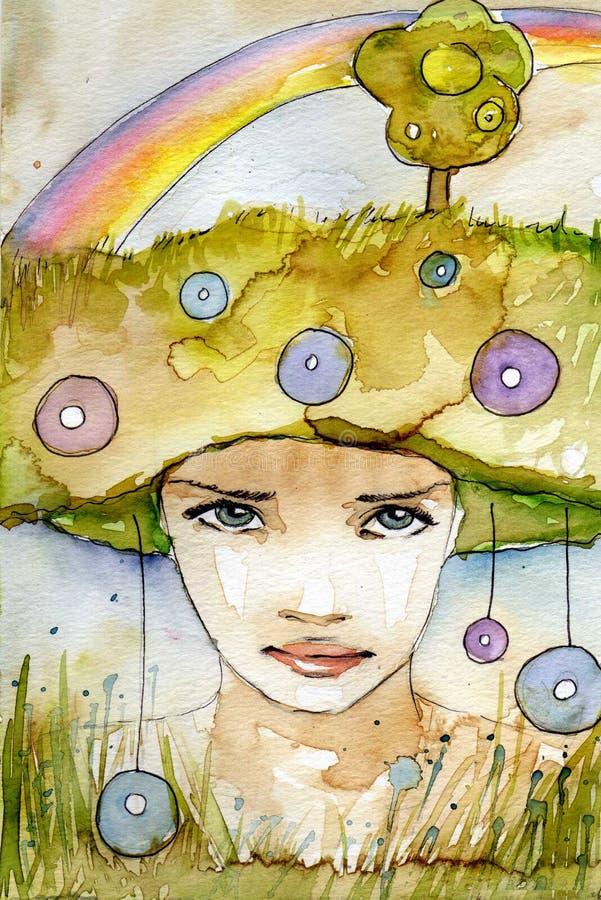 Het portret van de regenboog stock illustratie