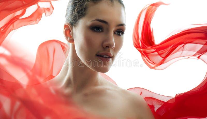 Het portret van de schoonheid stock foto