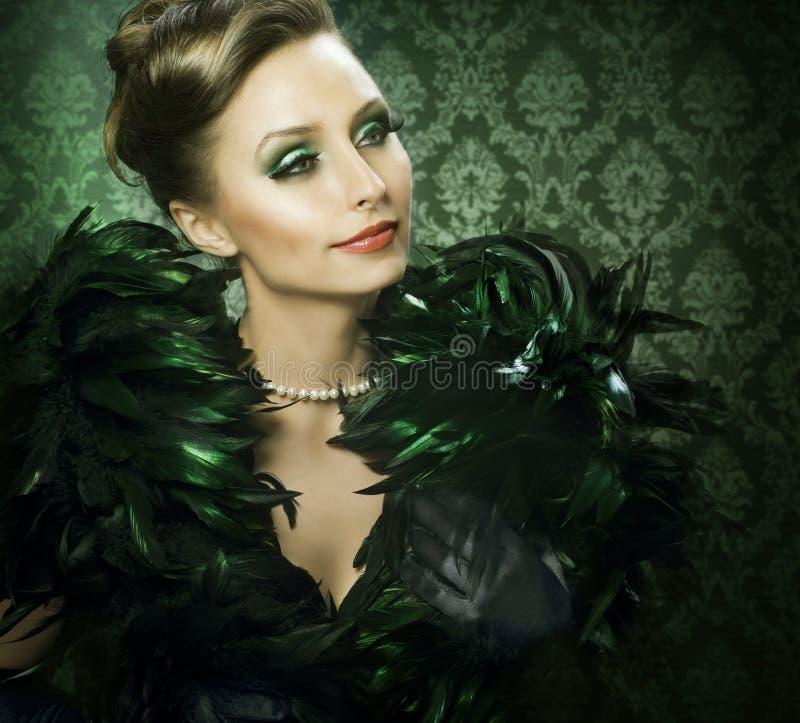 Het Portret van de schoonheid royalty-vrije stock afbeelding