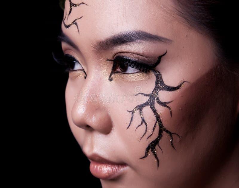 Het portret van de schoonheid Creatieve make-up royalty-vrije stock foto