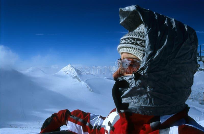 Het portret van de skiër royalty-vrije stock afbeelding