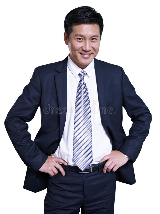 Aziatische zakenman royalty-vrije stock foto