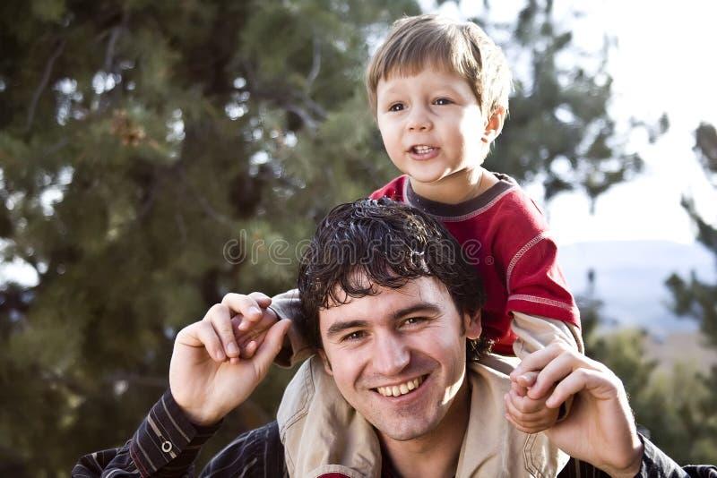 Het Portret van de vader en van de zoon royalty-vrije stock fotografie