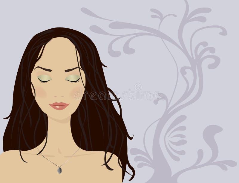 Het portret van de vrouw royalty-vrije illustratie