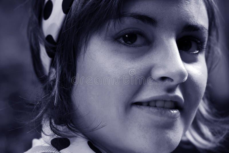 Het portret van de vrouw royalty-vrije stock afbeelding