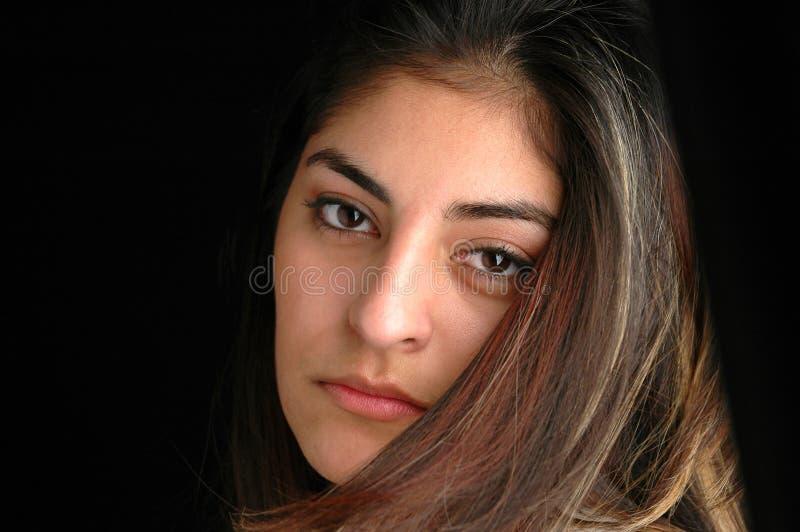 Het portret van de vrouw stock foto's