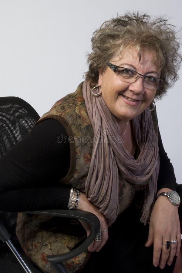 Het Portret van de Vrouw van de middenLeeftijd stock afbeeldingen