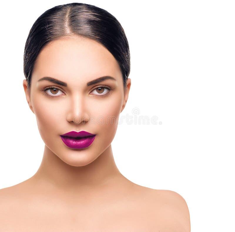 Het Portret van de Vrouw van de schoonheid Professionele Make-up stock afbeeldingen