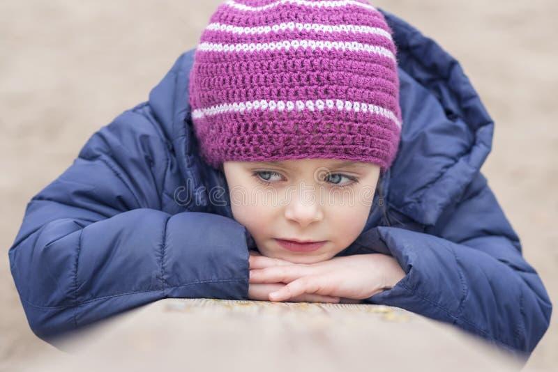 Het portret van een mooi kind, sluit omhoog royalty-vrije stock fotografie