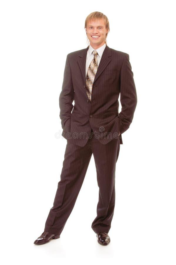 Het portret van gemiddelde lengte van zakenman stock fotografie