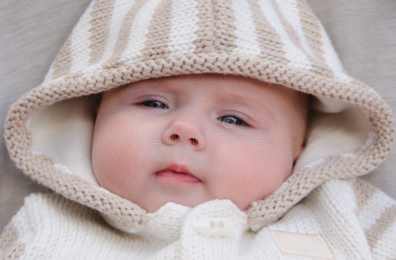 Het portret van het babymeisje royalty-vrije stock afbeelding
