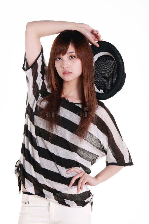 Het portret van het Chinese meisje. stock foto