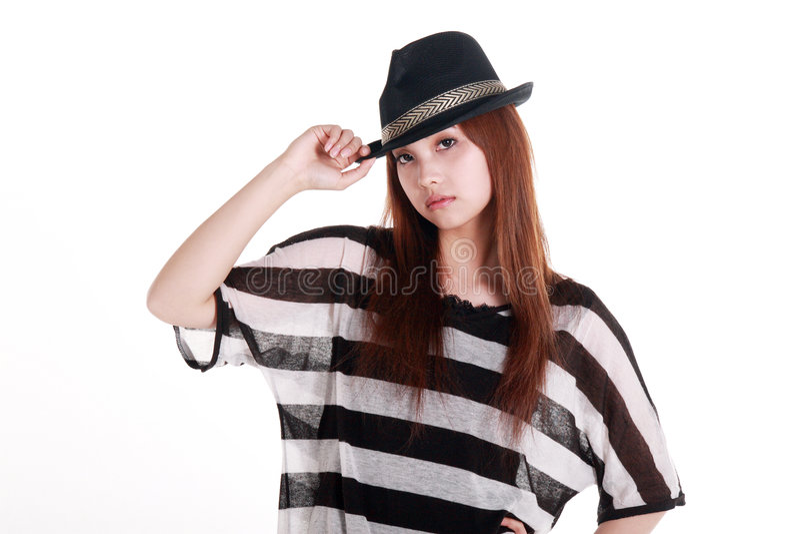 Het portret van het Chinese meisje. stock afbeelding