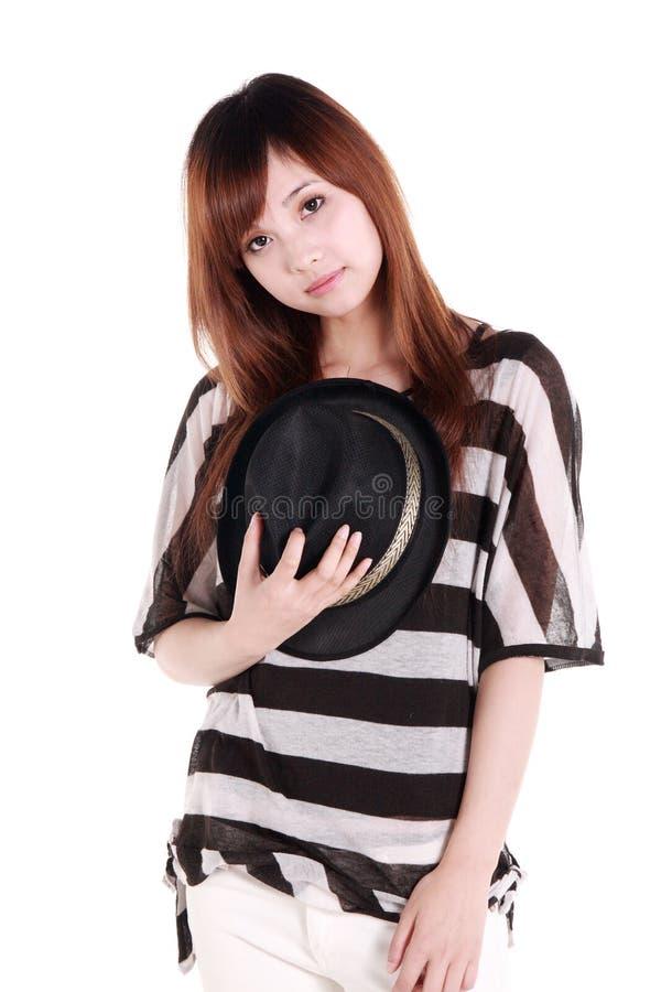 Het portret van het Chinese meisje. stock fotografie