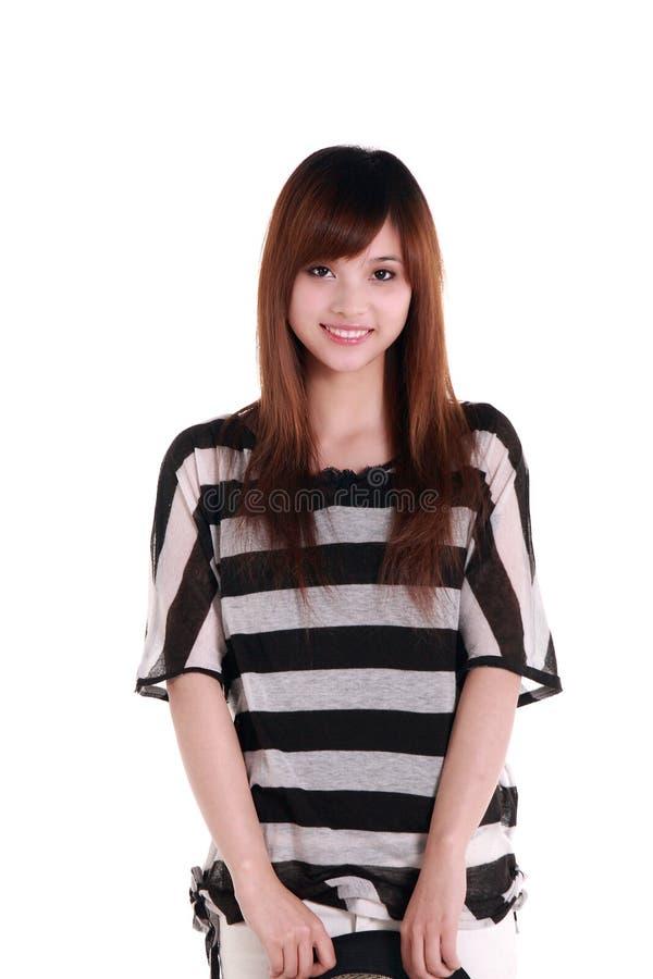 Het portret van het Chinese meisje. royalty-vrije stock afbeeldingen