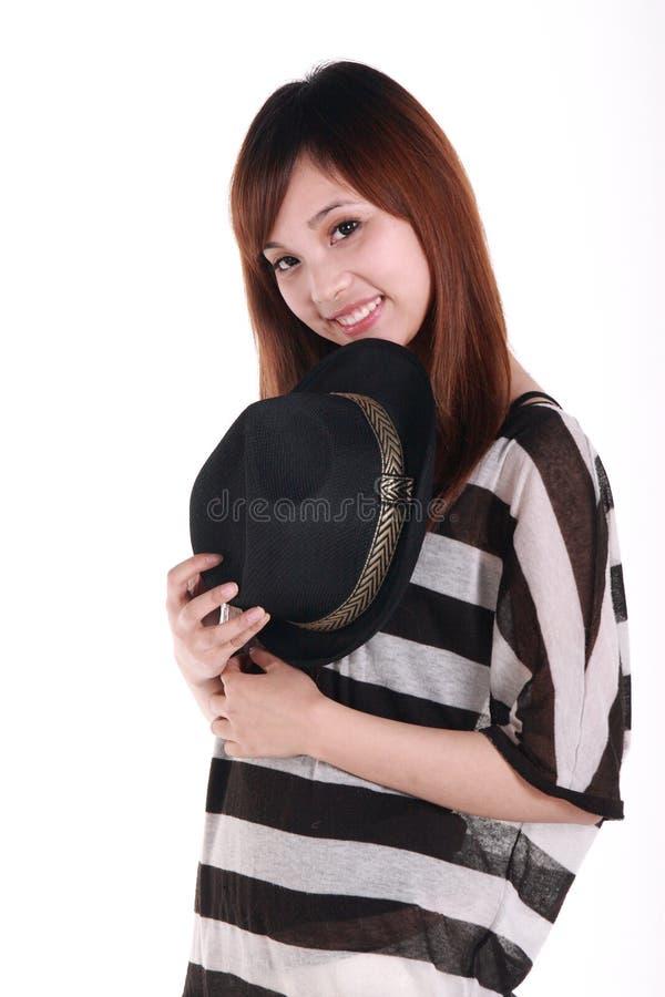 Het portret van het Chinese meisje. royalty-vrije stock afbeelding